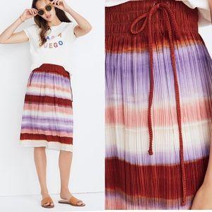 Madewell Texture & Thread Micropleat Ombré Rainbow